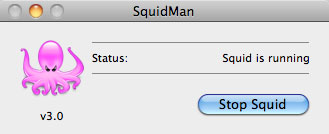 SquidMan GUI when running